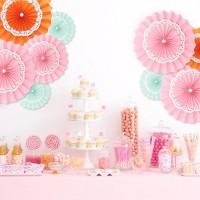 Jual Paperfan / Paper Fan Renda / Paper Flower Lace / Pompom Kertas 25cm Murah