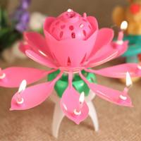 Lilin Music Lotus / Rose / Teratai Music Candle / Lilin Ulang Tahun