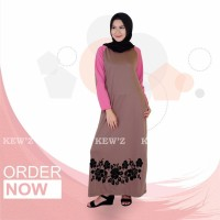 Busana Muslim Wanita  Long Dress  Maxy D KODE DF6429