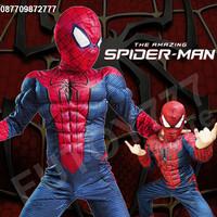 Jual Baju kostum anak Spiderman Spider man superhero super hero ulang tahun Murah