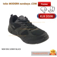 NO 39 NEW ERA SUNNY BLACK sepatu olahraga pria wanita running