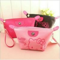 Jual Tas Kosmetik Hello Kitty Bordir Makeup Bag Organizer Pouch Murah