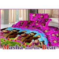 Jual Bedcover set sprei flat Fata signature marsha n the bear uk.120 x 200 Murah