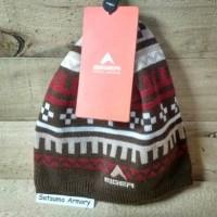 Topi Kupluk Beanie Wool Rajut Coklat Merah Maroon Eiger Delphic