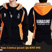 Jual Jaket Anime Haikyuu Karasuno Semi Cosplay Jacket Hoodie (JA KYU 04) Murah