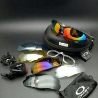 kacamata sport oakley 6 lensa 2 gagang
