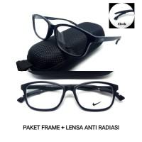 kacamata nike elock new + lensa Anti radiasi komputer gadget laptop