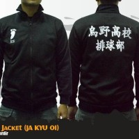Jaket Anime Haikyuu Karasuno Cosplay Jacket Hoodie (JA KYU 01)