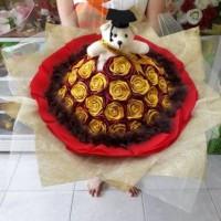 Jual Buket Bucket Bunga Boneka Bear Florist Kado Ultah Ulangtahun Wisuda Murah