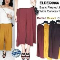 Jual EL de Couture Basic Pleated Jersey Wide Cullotes Pants Murah