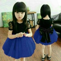 Jual Cen2 Blue Kid dress natal anak cantik dress imlek anak Murah