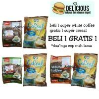 Jual BELI 1 GRATIS 1 SUPER WHITE COFFEE ISI 15 BONUS SUPER CEREAL Murah