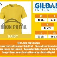 Jual Kaos Polos Gildan Daisy Yellow