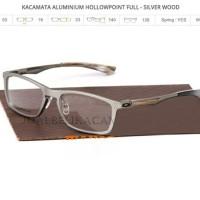 frame kacamata oakley hollow point silver wood (full)