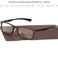 frame kacamata oakley hollow point brown (full)