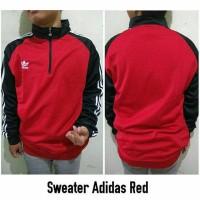 Jaket Sweater Adidas Red - Jaket Lari Import