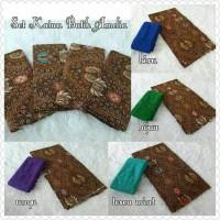 Jual set bahan kebaya/brokat sofia & katun batik amelia Murah