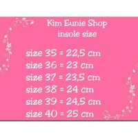 PANDUAN SIZE insole Kim Eunie Shop