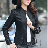 Jual jaket wanita semi kulit/jaket kulit/jaket casual wanita Murah