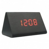 Jual LED Digital Wood Clock JK 828 Black Murah