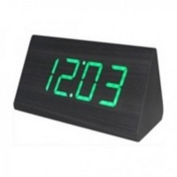 Jual LED Digital Wood Clock JK 828 Black/Green Murah