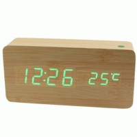 Jual LED Digital Wood Clock JK 858 Brown Murah