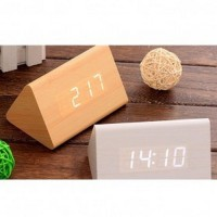 Jual LED Digital Wood Clock JK 828 Brown Murah