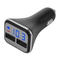 Charger Dual Port USB Car Cigarette Lighter 12-24V LED Voltmeter [XC]