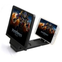 Jual ENLARGE Screen Magnifier Bracket Stand 3D Speaker Smartphone Black Murah