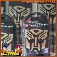 Jual Emblem Transformer Chrome. emblem transformer autobot. Murah Murah