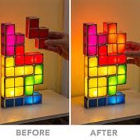 Jual  TETRIS LAMP TACTBIT LIGHT RECHARGEABLE mainan anak tetris la T1310 Murah