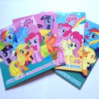 Paket Buku Mewarnai Mini Sticker My Little Pony mainan edukasi
