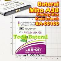 Baterai Mito A38 Fantasy Max BA-00100 Log-On