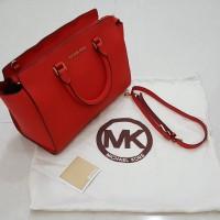 termurah Tas Wanita MICHAEL KORS selma large satchel RED ORIGINAL bel