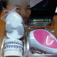 Jual spesial Pink Skiner Korea Beauty Set Alat Pembersih Wajah Pemijat Waj Murah
