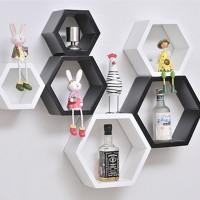 Jual Floating Shelves Hexagonal (isi 3pcs) Murah