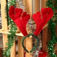 Jual Promo   Bando Natal Tanduk Rusa Merah Merry Christmast eve santa pesta Murah