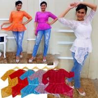 Kebaya A Simetris Luna Panjang Casual Modern Outfit Cantik