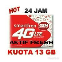 Jual Kartu Perdana Smartfren GSM Quota 13 GB bisa dipakai 24 Jam Murah