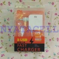 Jual Charger Xiaomi 3 Port USB Adapter 4 In 1 3.4A - Plus Data Cabl  Murah