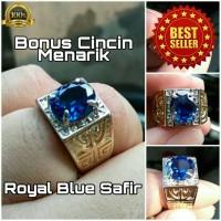 Cincin Royal Blue Safir Size Kantoran Mewah