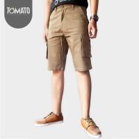 Jual Celana Cargo Chinos Pendek Pria Coklat - Tomato Clothing Murah