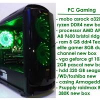 Jual PC Gaming - AMD APU A8 9600 bristol ridge 10 compute core-G4560 killer Murah