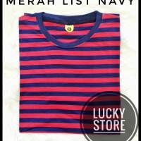red stripe navy - kaos strip - kaos stripe - basic- polos- combed