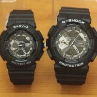 Jam Tangan Couple G-Shock Ga110/baby-g bga110 black varian gold
