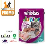 Whiskas Junior 85gr Pouch/ Sachet (1-12bulan)