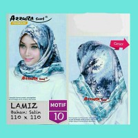 Jual Hijab Segiempat Satin Lamiz by Azzura Motif 10- Jilbab Scarf Murah Murah