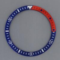 SEIKO Mod 7S26 6309 SKX007 SKX009 1/4 Red Merah Pepsi Bezel Insert