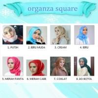 Jual Square Organza Hijab / Segi Empat Organza Murah