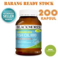 Jual Blackmores Odourless Fish Oil 1000mg BPOM Kalbe - 200 kapsul Murah